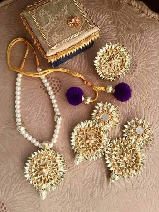 floral jewellery for mehendi