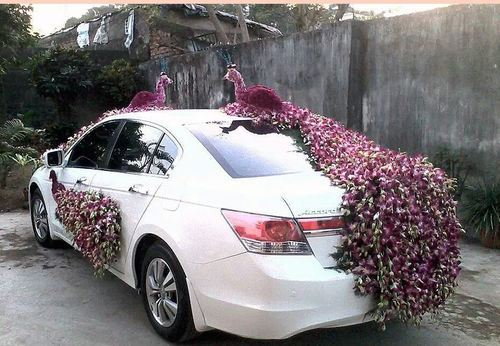 Wedding car decor pictures to pin on pinterest tattooskid for Automotive decoration