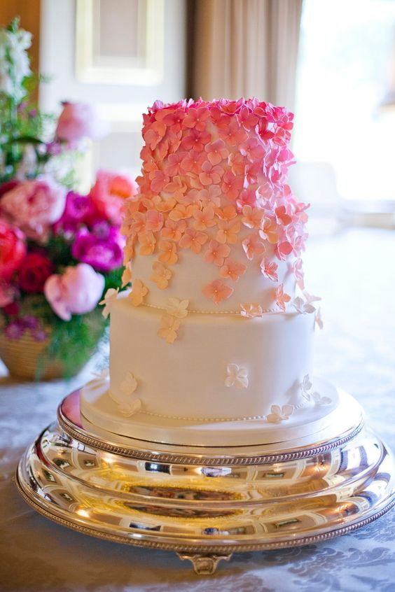 gorgeous engagement cake