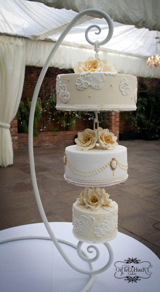 hanging and floating wedding cakes