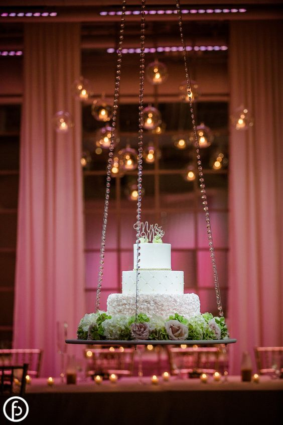 floating and hanging wedding cakes