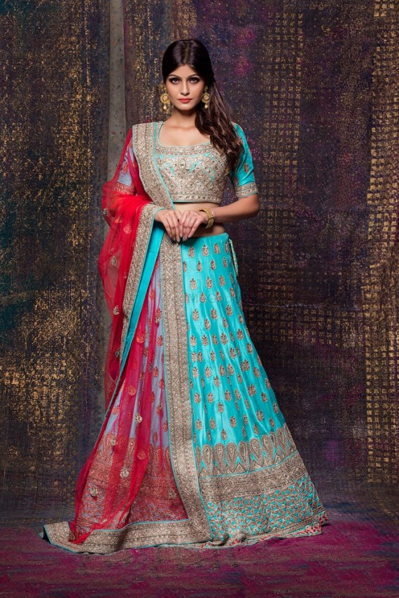 Sunehree - bride in blue