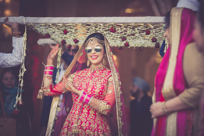 bride with shades