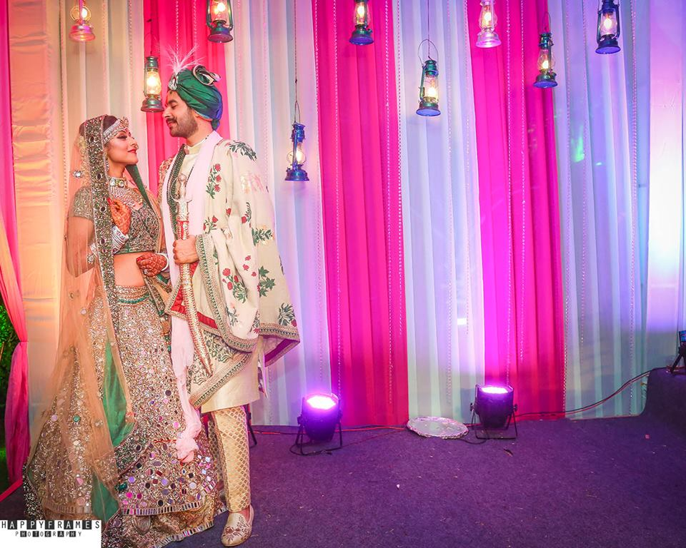 beautiful capture of bride and groom
