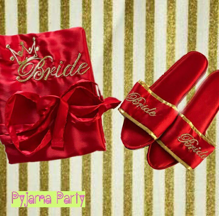 customized bridal slippers