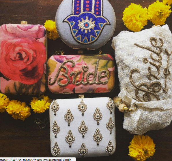 gorgeous customized bridal clutches