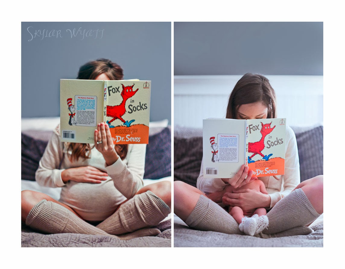 Before and After Maternity Shoot