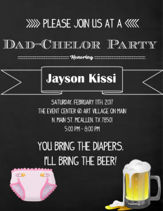 Dadchelor Party Ideas