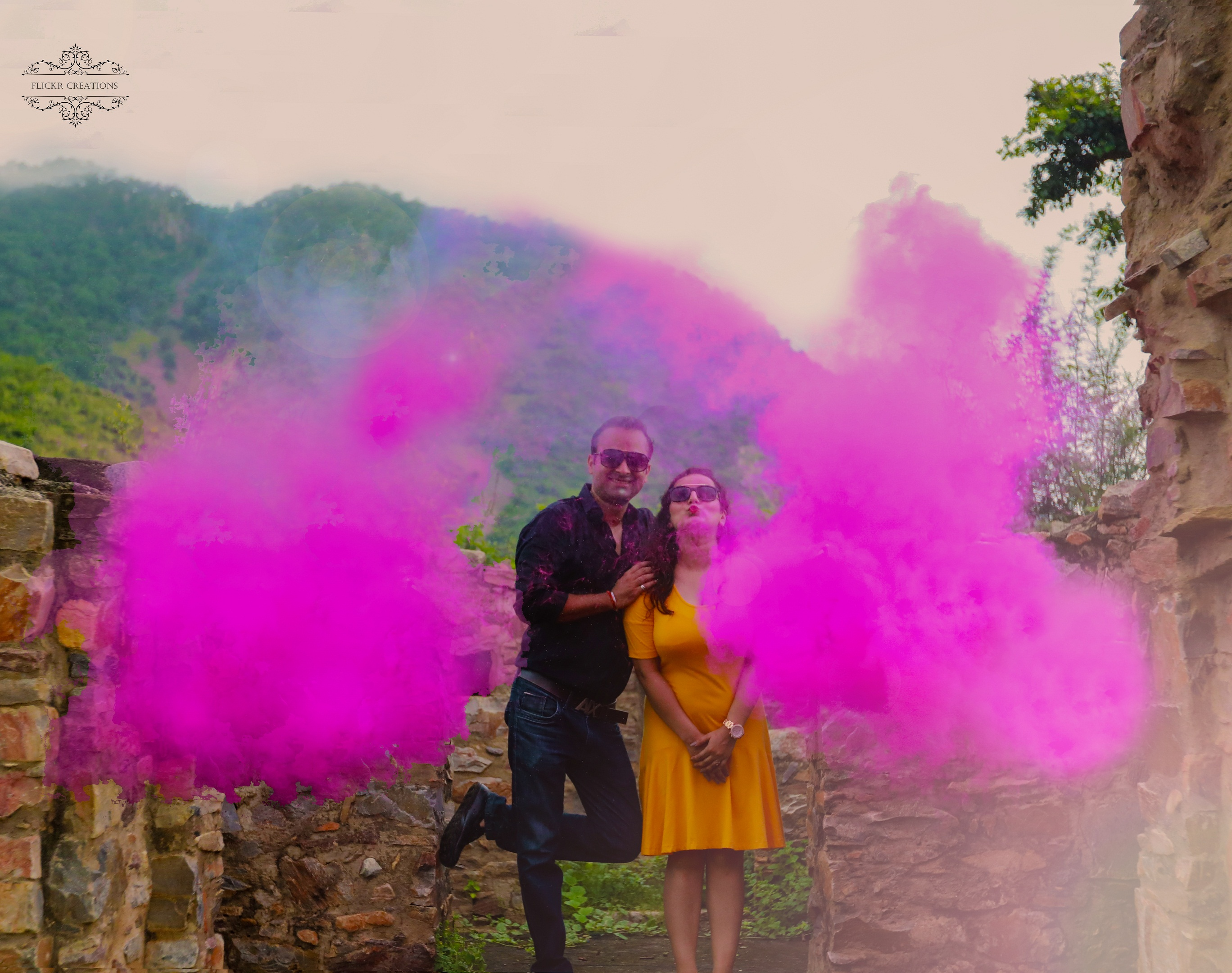 colours and pre-wedding shoot