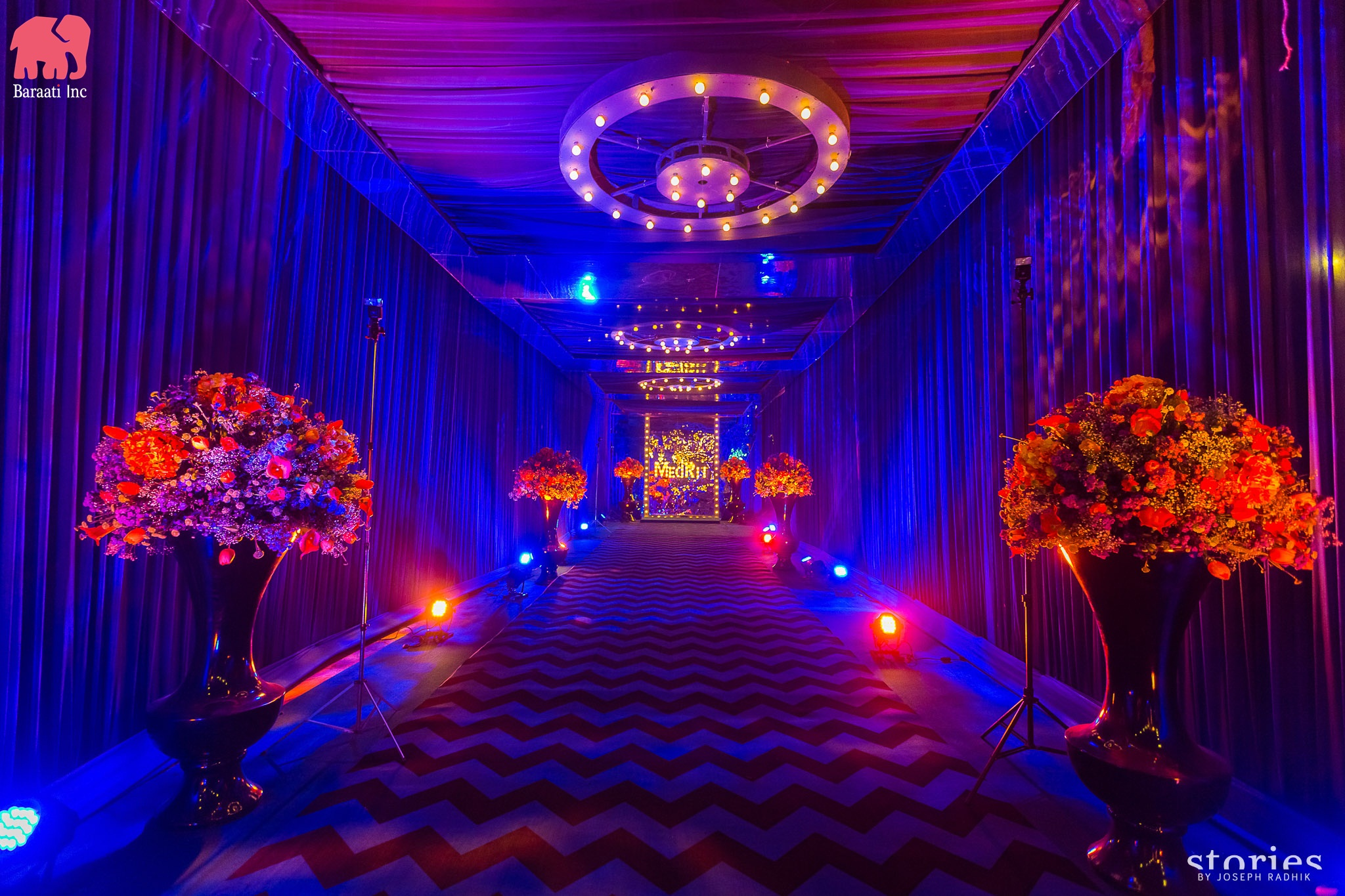 Wedding venue decorations by Baraati Inc | This Couple's IIFA Themed Sangeet Is the Most Fun Thing You'll See Today | FunctionMania