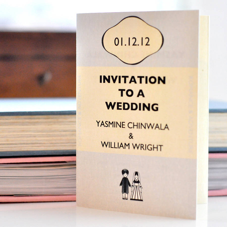 unique wedding invite