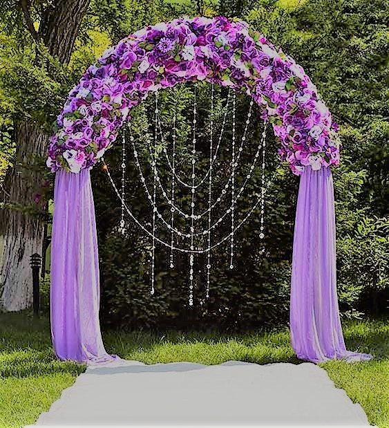 lavender and violet ceremony arch for mehendi or daylight ceremony | Function Mania | #Trending: How to use hues of Ultraviolet for a chic wedding decor!