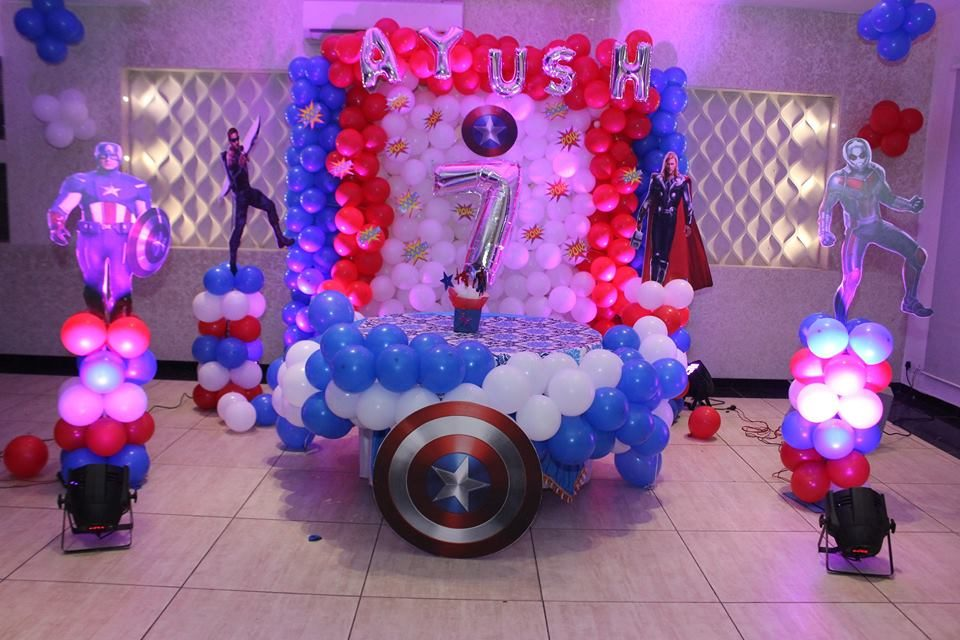 Avengers Birthday Party Theme Decor | Birthday Decor | India Birthday Parties | function mania