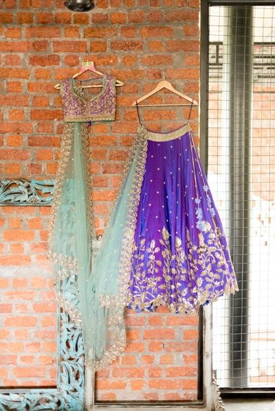 Wedding dress photography-ultraviolet and indigo lehenga-choli-Anushree Reddy-9 Beautiful Ideas for Bridesmaids Dresses Inspired By Pantone Color of the Year!-FUNCTIONMANIA