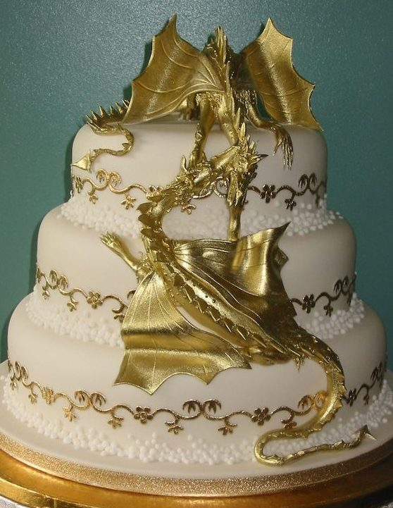 Dany's Dragons on wedding Cake