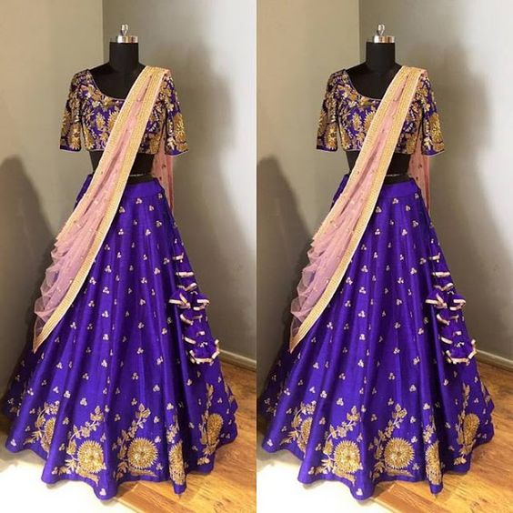 Violet and Peach Lehenga-Gorgeous Bridal Lehengas Inspired by Pantone Colour of the year!-Function Mania