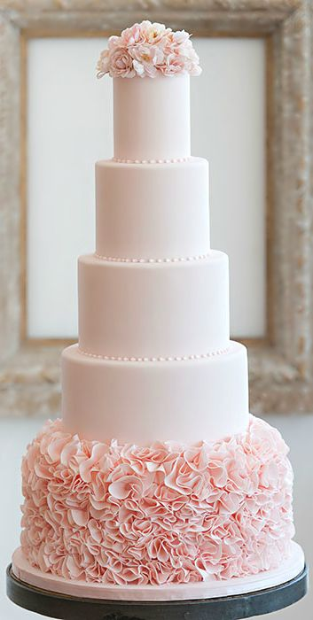 pink and white wedding cake designs unique wedding cake ideas that will trend in 2018 18560