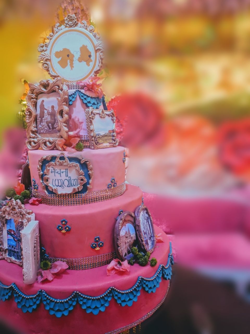 Love Story Cake by Shelly Arora | Pink and Blue Cake| Function Mania | THIS GURGAON BASED CAKE DESIGNER MAKES WEDDING CAKE AN EDIBLE WORK OF ART!