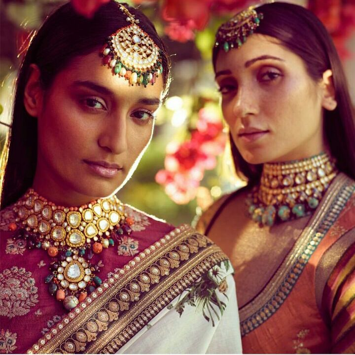 Multi colour beads and polki jewellery for brides 2018   Brides of Sabyasachi   Bridal jewellery Trends   Spring Summer 2018 by Sabyasachi   Indian Bridal wear   Function Mania