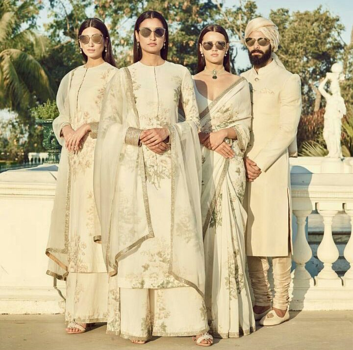 Bridesmaids Outfit Ideas   summer wedding outfit ideas   Spring Summer 2018 Collection By Sabyasachi   Wedding wear   Ivory Weddign outfit   Function Mania