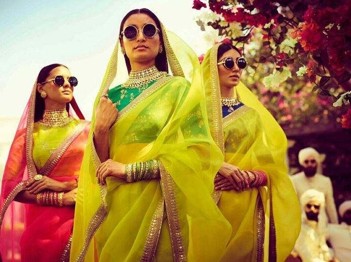 Lemon Yellow and Parrot Green Wedding Outfit   Vintage Indian Outfit Ideas   Summer Wedding Outfit Ideas   Spring Summer 2018 Collection   Function Mania