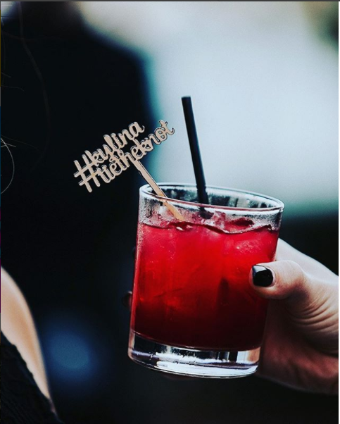Drink stirrer with wedding hashtag | wedding hashtag | 8 Steal-Worthy Wedding Hashtag Ideas You'll Love! _ Function Mania