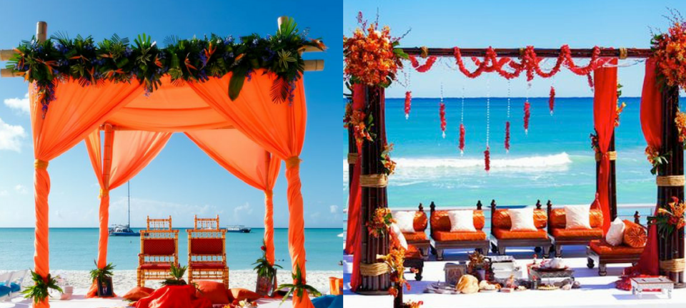 Function Mania | Beach Side Wedding Mandap Ideas