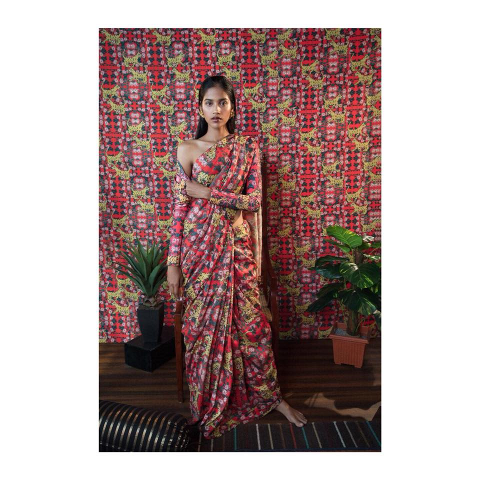 Floral Saree - Tiger Lily Summer 2018 Collection