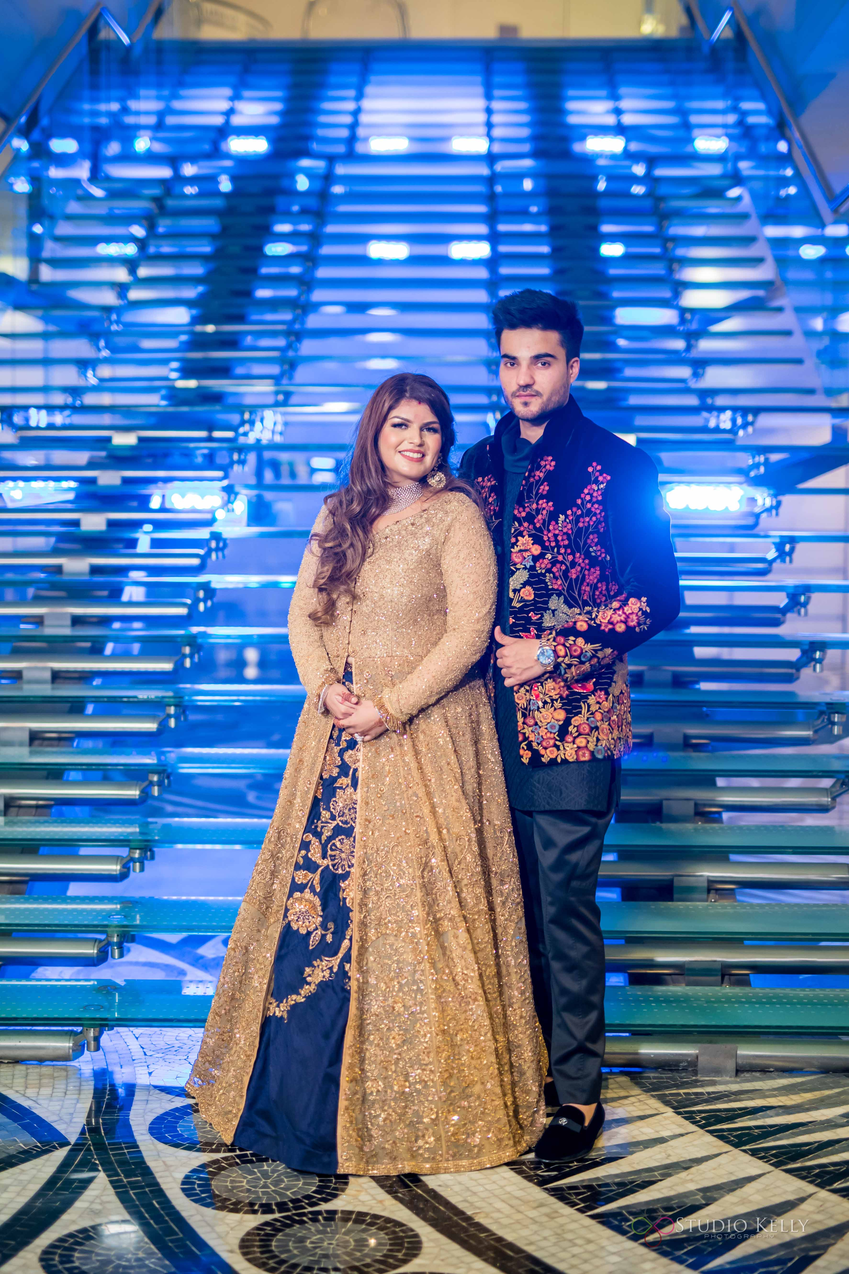 Indian Bride and Groom | Shyamal Bhumika Bridal wear | Gorgeous Engagement Dress| pretty bride | Violet bridal Gown | Pictures | Indian weddings | Luxurious Indian Weddings | Delhi weddings | Function Mania