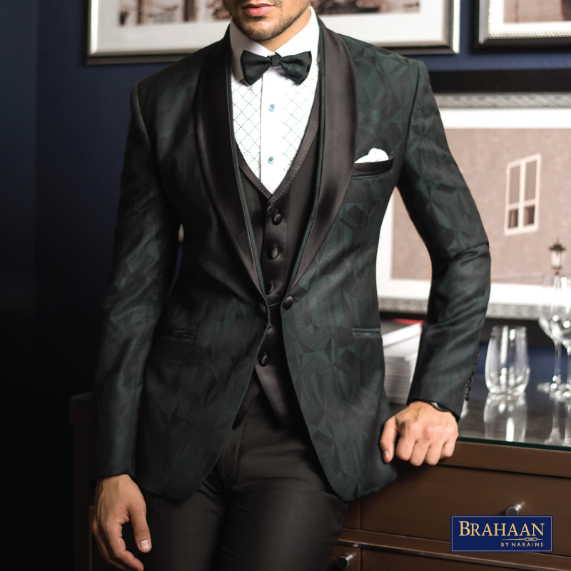 Coloured and Printed Tuxedos By Brahaan
