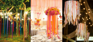 10 Lovely Ribbon Decor Ideas for an Unforgettable Wedding!   ribbon decor   Wedding decor ideas   DIY decor ideas   Function Mania