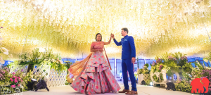 A Plush Start-Studded Wedding Reception With Stunning Ceiling Decor! | Function Mania