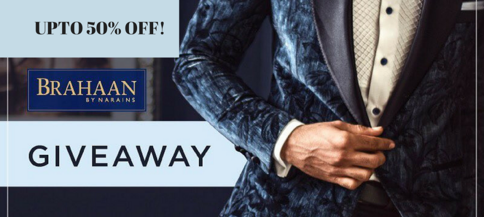 Guys, This Designer Menswear Label Has An Ongoing Grand Sale With Some Irresistible Giveaways! | UP TO 50% OFF! and Giveaway Contest At Brahaan By Narains | Function Mania |