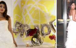 Priyanka Chopra bridal shower images collage