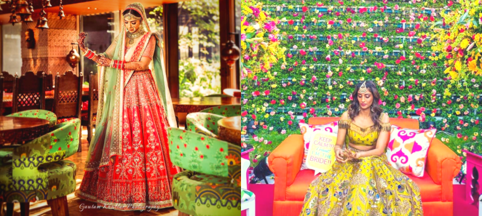 Newest Ideas for Gorgeous Bridal Pictures With Colour-Coordinated Wedding Decor!