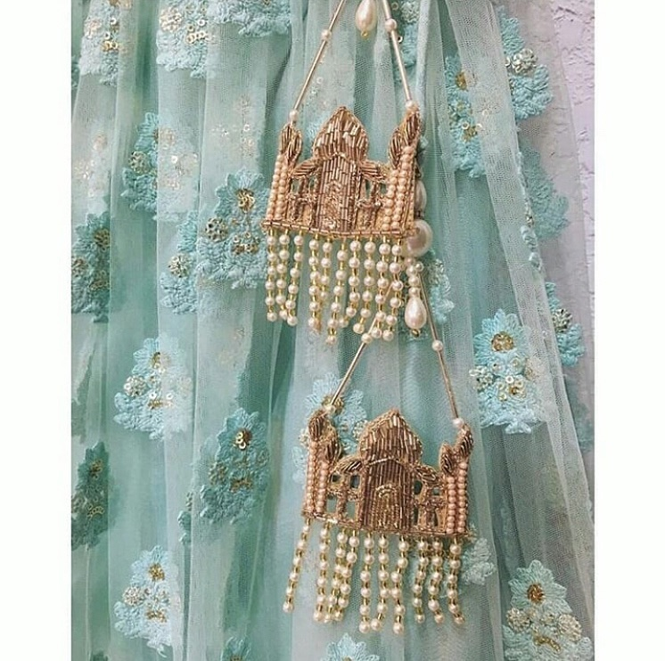 Tajmahal Tassels for Bridal Lehenga