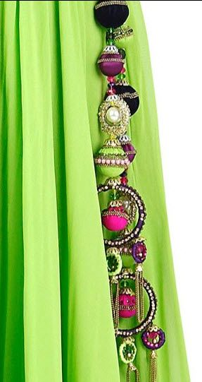 Colourful tassels with multi-layered beads, chains and ring!